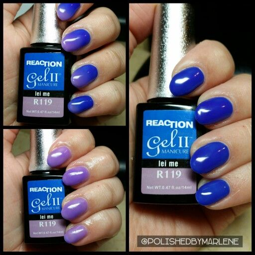 Gel Ii Temperature Reaction Polish In Lei Me Have This Color On Now I Love It Feel Like M 12 With My Hypercolor T Shirt