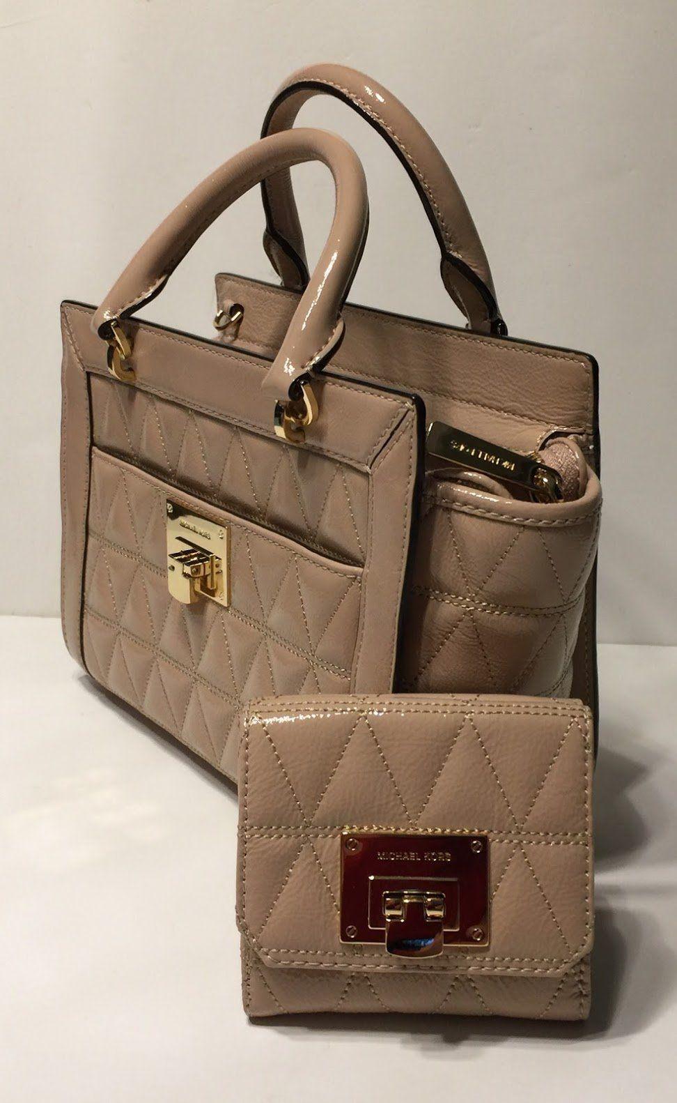 56bb19714c MICHAEL Michael Kors Vivianne SM TZ Messenger Quilted Handbag bundled with  Michael Kors Vivianne Trifold Wallet