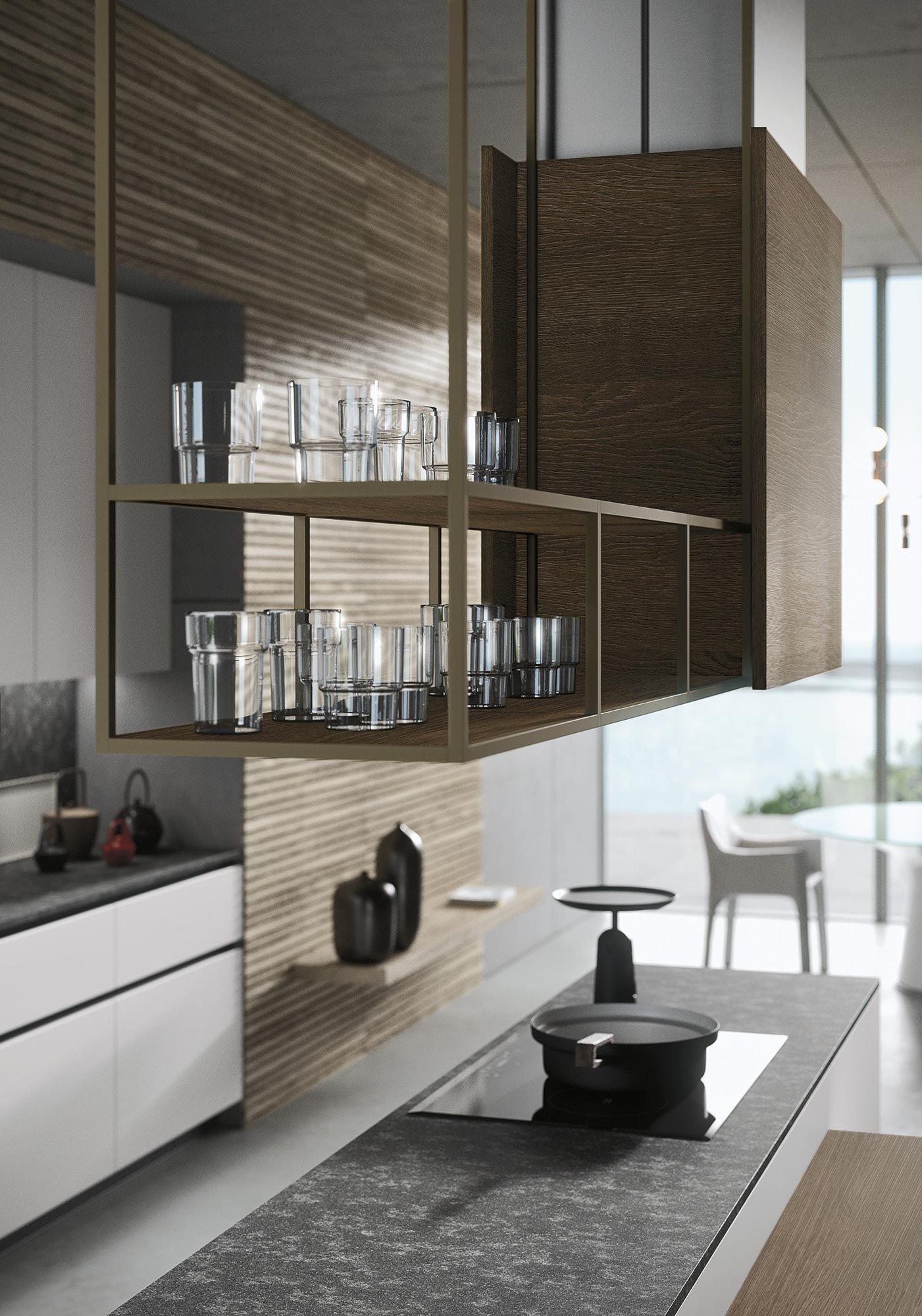 Cucine componibili moderne: design Michele Marcon per Look ...