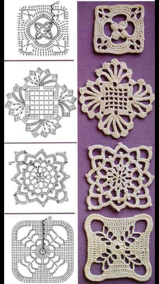 Pin von Kellie Winegar auf Crochet - Squares   Pinterest