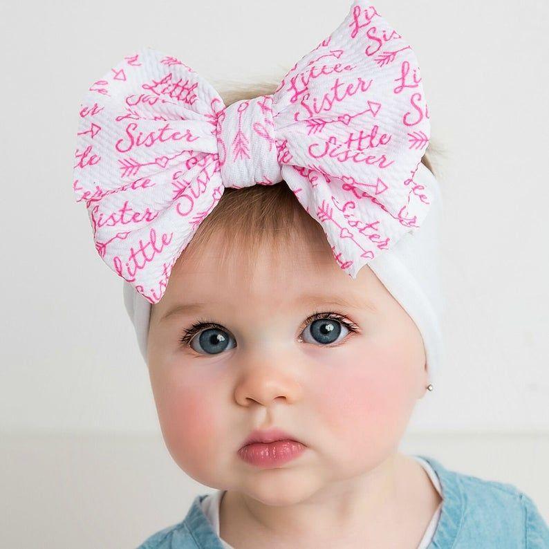 Hot pink Nylon baby headband infant headband,Fabric hair bow baby girl headband newborn headband Fabric bow baby headbands