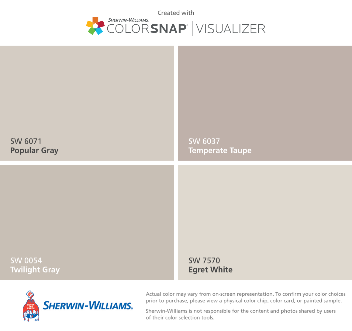 I Found These Colors With Colorsnap Visualizer For Iphone By Sherwin Williams Popular Gray Sw 6071 Twilight Gray Sw 0054 Temp Huisdecoratie Gray Paints