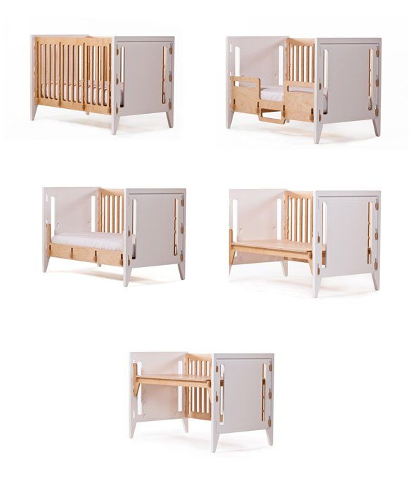 Five for One Transform this 5in1 crib into a toddler bed daybed