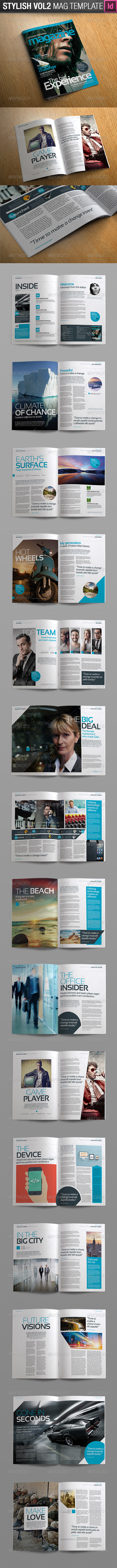 Stylish Volume 2 InDesign Magazine Template - Magazines Print ...