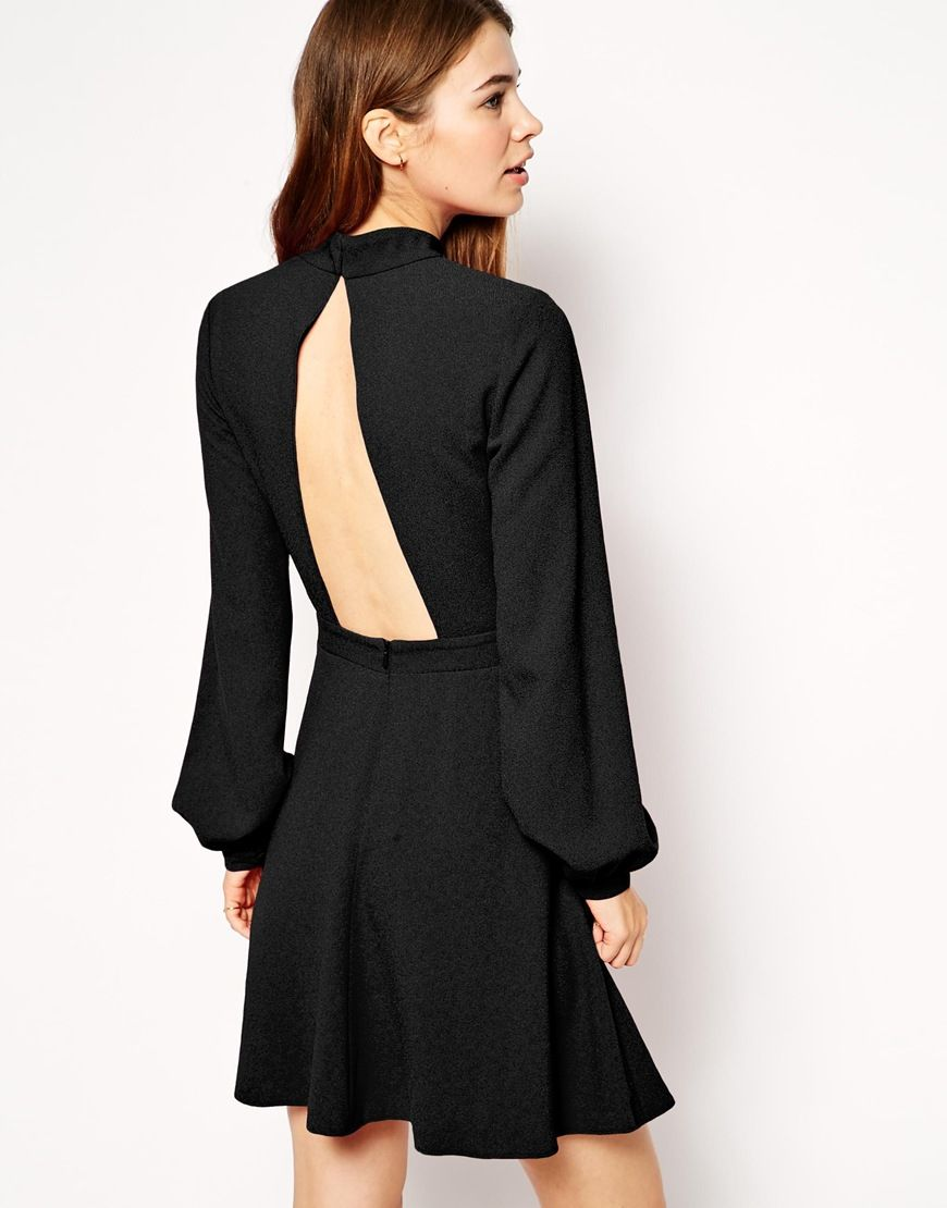 Asos high neck skater with cut out back auwear pinterest