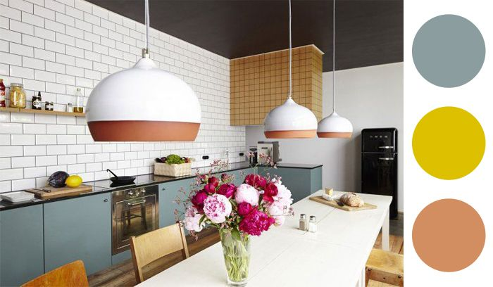 Cozinha sem armários aéreos.