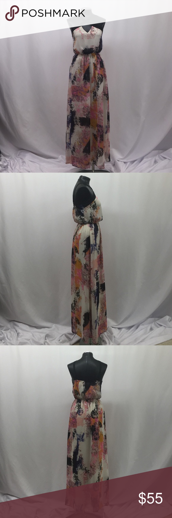 New dress Colors: pink, black, cream, peach, blue Bar III Dresses Maxi