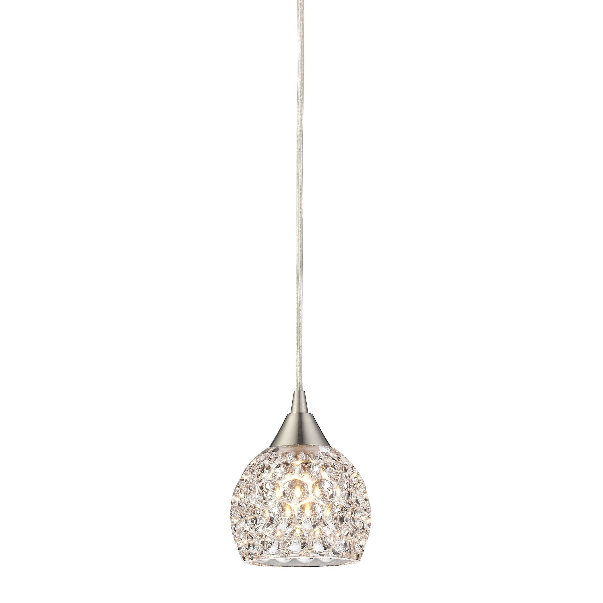 Kersey 1 light pendant in satin nickel satin pendants and lights kersey 1 light pendant in satin nickel arubaitofo Image collections