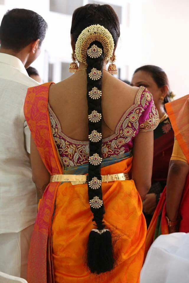 South Indian Style Indian Bride Hairstyle Bridal Hairstyle