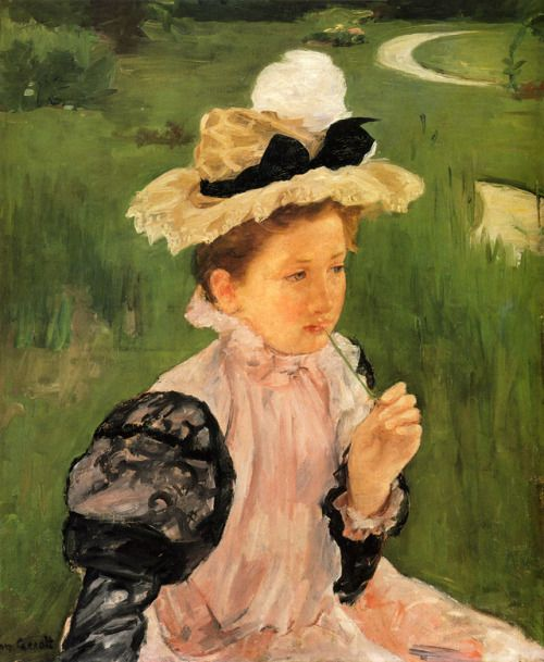 impressionism-art-blog: Portrait Of A Young Girl via Mary...