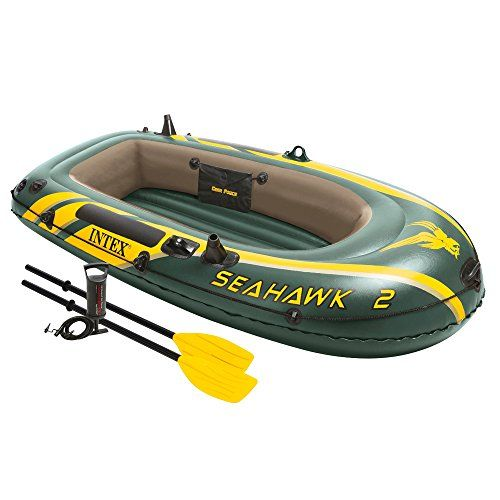 Intex Seahawk 2 2person Inflatable Boat Set With French Oars And High Output Air Pump Want To Know More Clic Inflatable Boat Inflatable Kayak Floating Boat