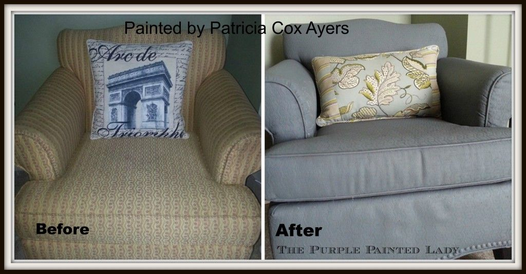 Annie Sloan Paint Works On Fabric Could Be A Real Money Saver Picmonkey Painted Fabric Patrici Painting Leather Chalk Paint Fabric Painting Fabric Furniture