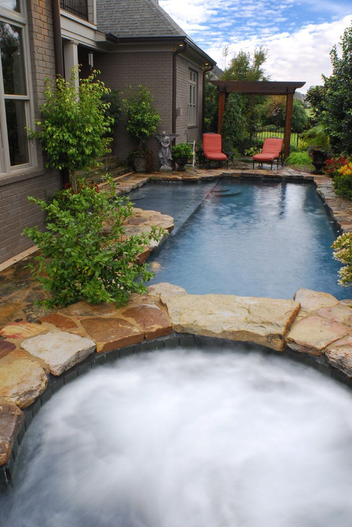 Pool in small backyard wow dream home pinterest - Small swimming pools for small backyards ...