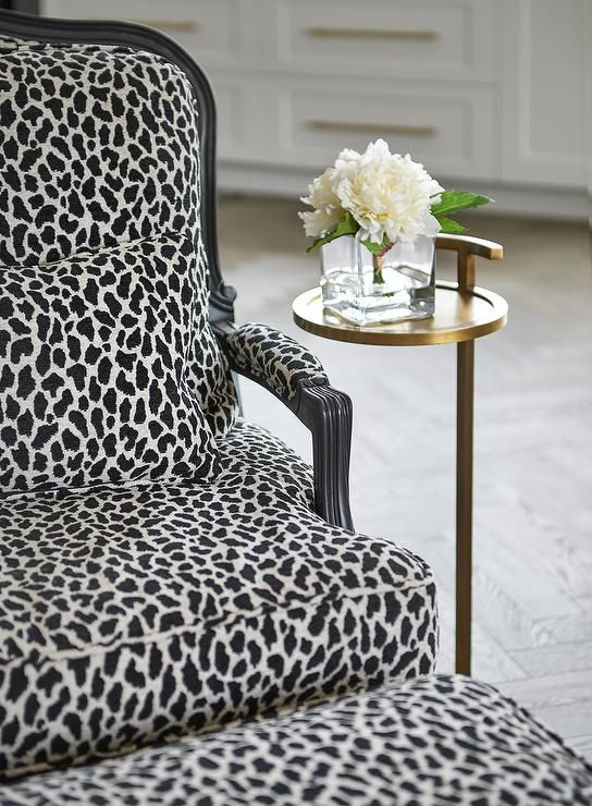 Best A Black And White Animal Print Bergere Chair With A 400 x 300