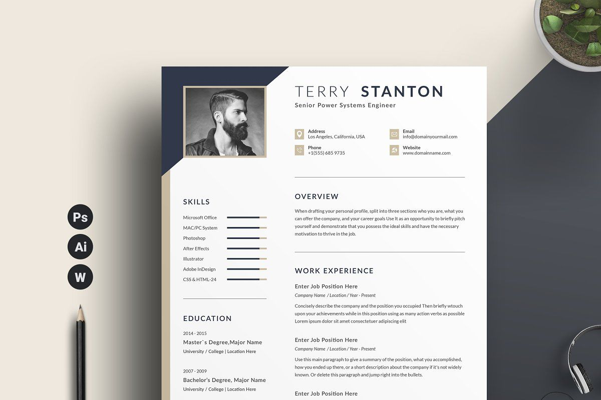 Resume Cv Word Sponsored Impression Modern Resume Template In 2020 Unique Resume Template Cv Words Modern Resume Template