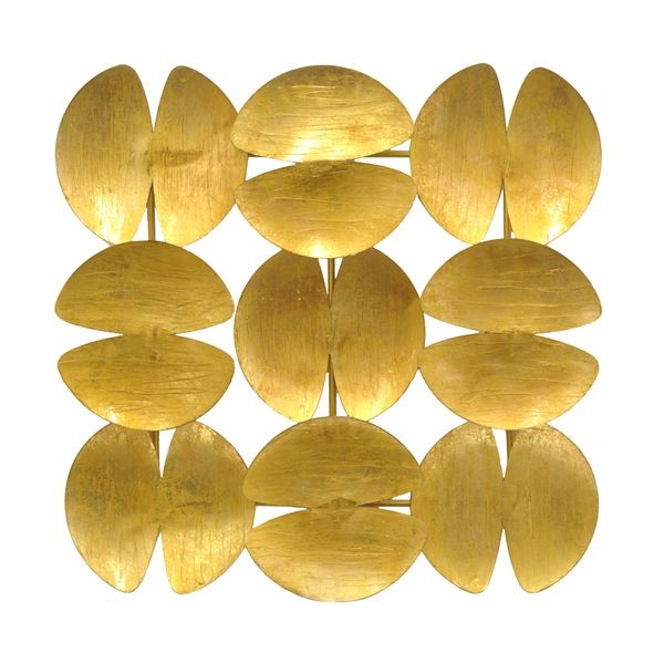 Three Hands Clamshell Shaped Metal Wall Decoration Gold | Metal ...