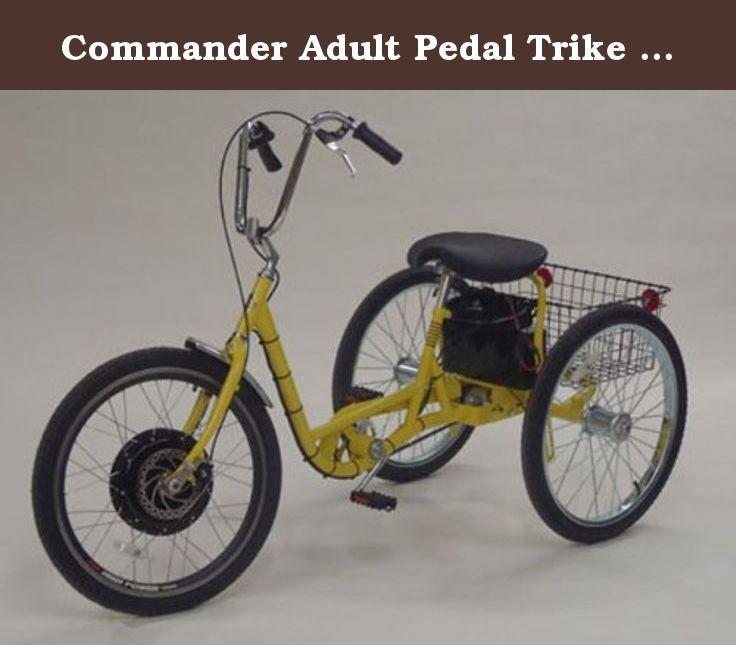 Commander Adult Pedal Trike W/36V Electric Hub Motor. The