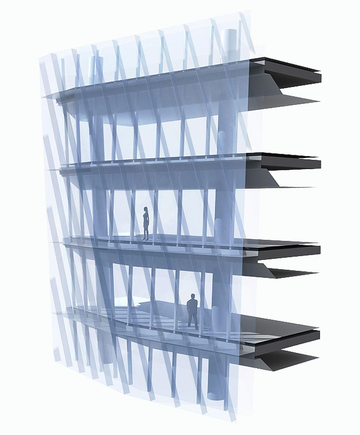 двухслойный фасад | Glass Facades Structure | Pinterest | Facades ...