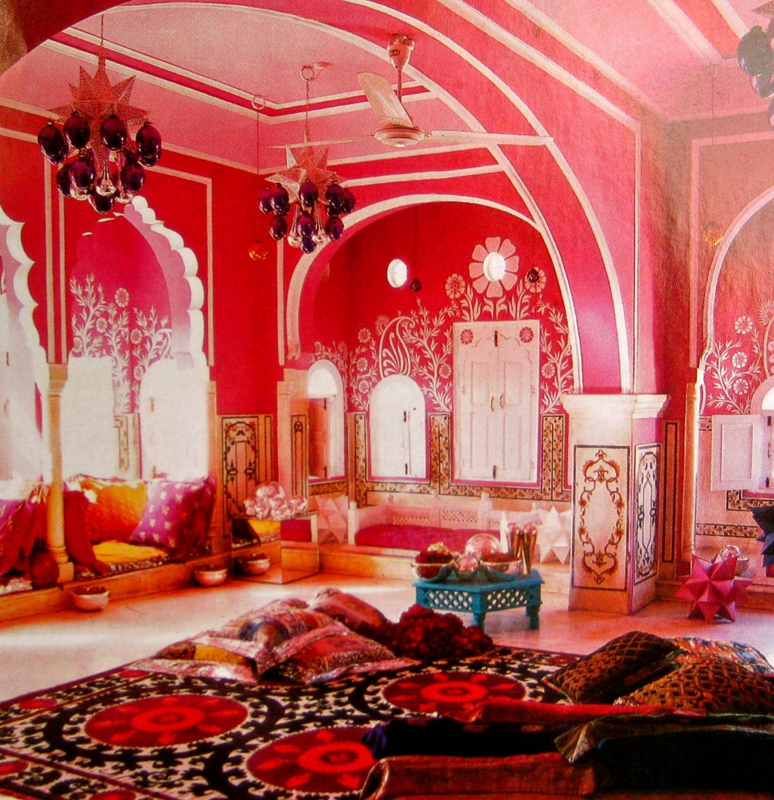 brit fashion designer liza bruce exotic holiday home in jaipur rajasthans famous pink capital city pink india dream room love the wall henna and the