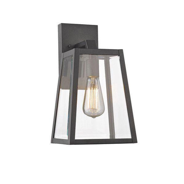 Chloe Lighting Transitional 1 Light Black Outdoor Wall Lantern