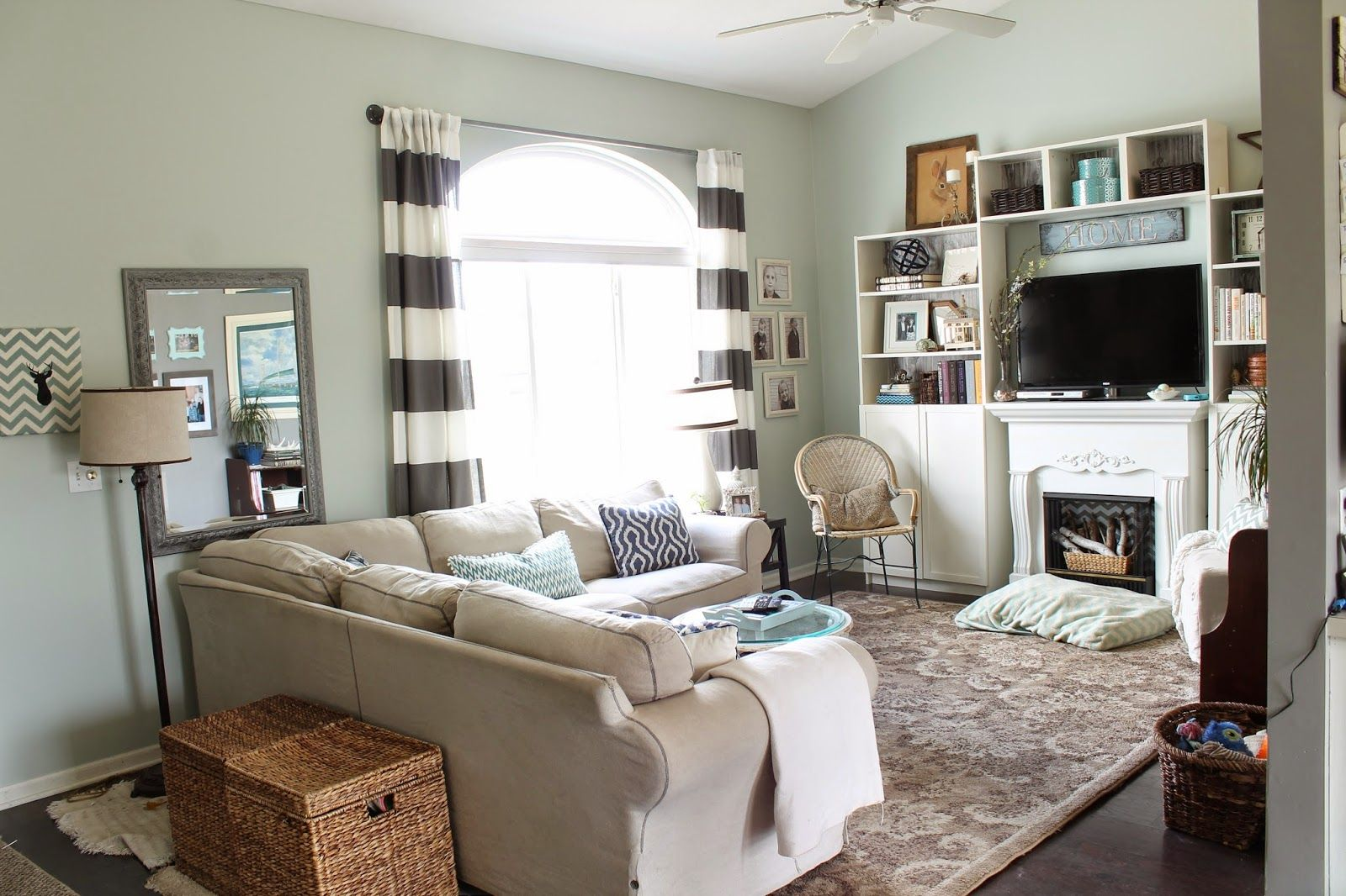 Love this color by sherwin williams 39 sea salt 39 diy home - Paint colors for living room and kitchen ...