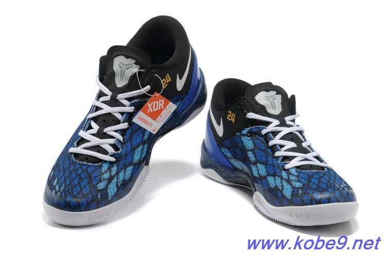 Authentic Nike Kobe 8 System iD Men's Basketball Shoe Black Blue For Wholesale
