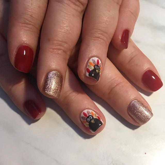 16 Thanksgiving Nails Designs That Will Inspire You  Nails 16 Thanksgiving Nails Designs That Will Inspire You  Nails