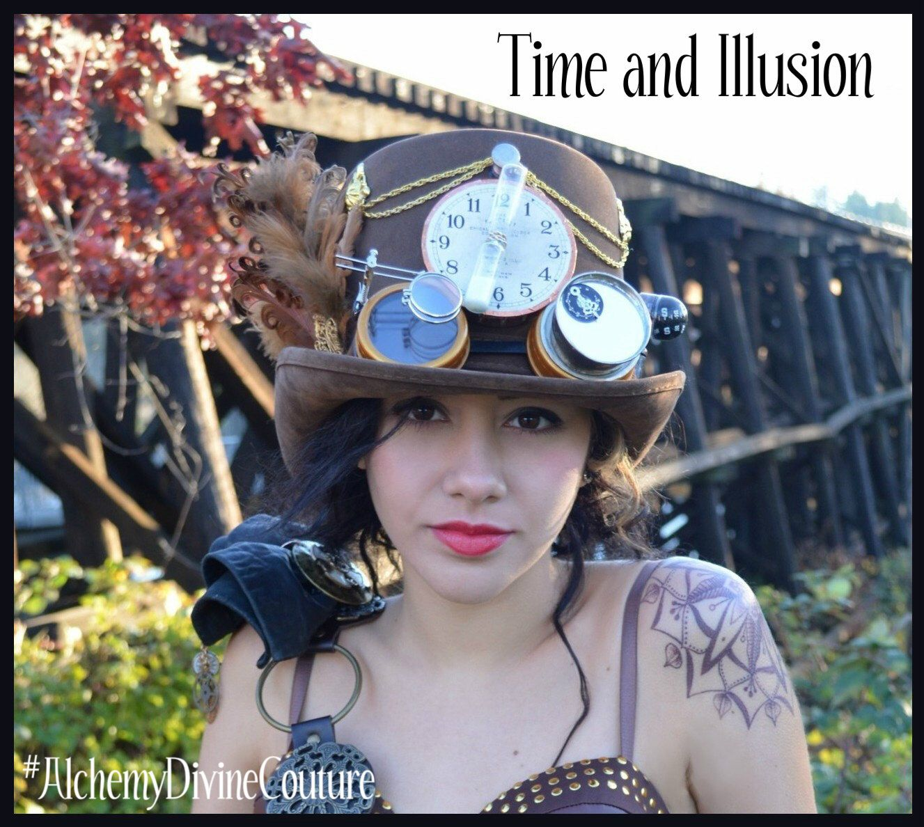 Steampunk Top Hat, Brown Top Hat, Clock, Goggles, Compass, Feathers by Alchemy Divine Couture by AlchemyDivine on Etsy https://www.etsy.com/ca/listing/267499766/steampunk-top-hat-brown-top-hat-clock