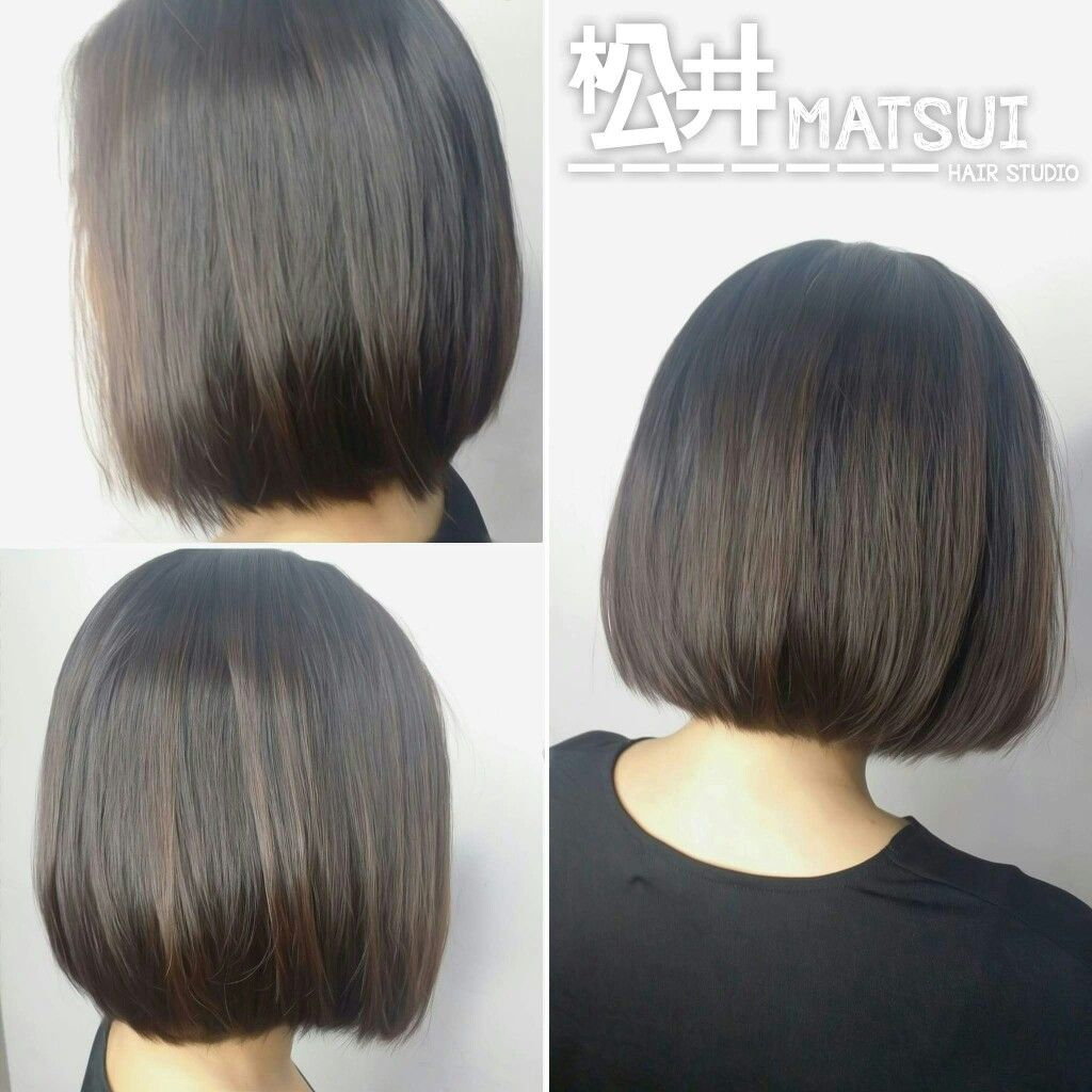 Volume rebonding ud neat bob hairstyle hair done by kenny at