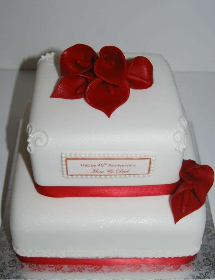 40th anniversary cakes 40th anniversary cake how to decorate 40th anniversary cakes 40th anniversary cake junglespirit Images