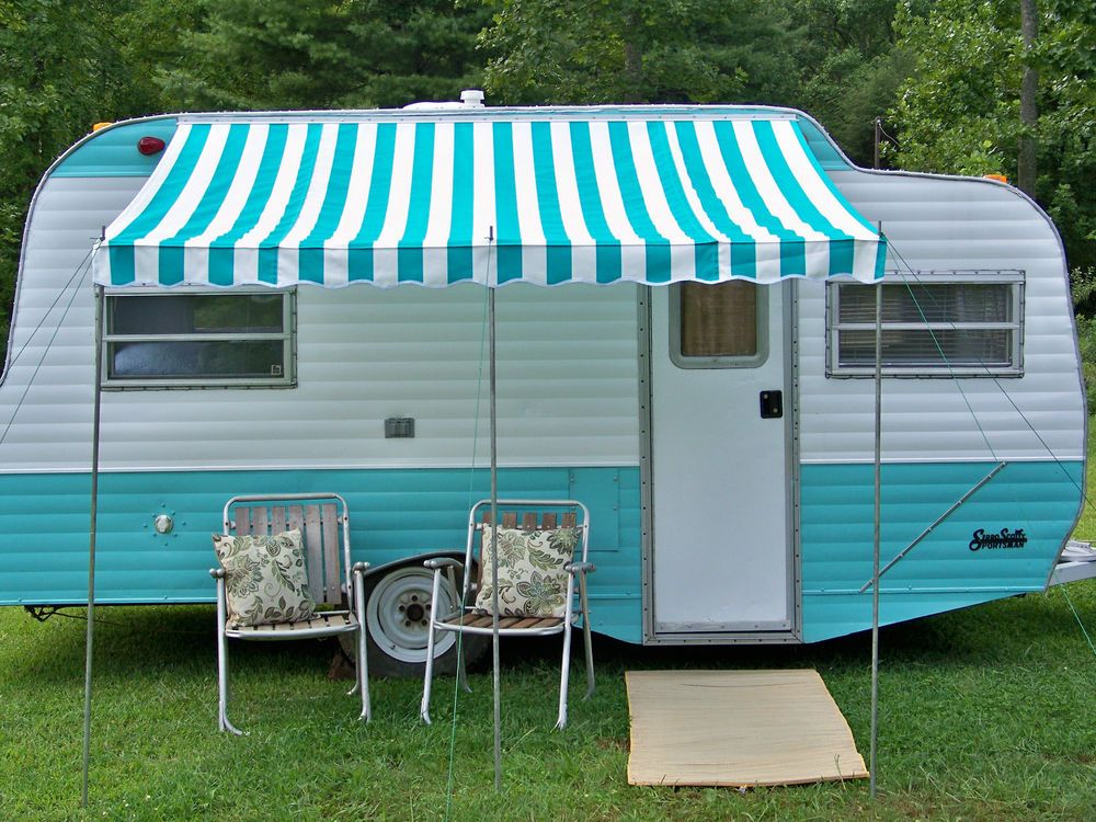 Awning For Vintage Camper Scotty Shasta Canned Hams Hams