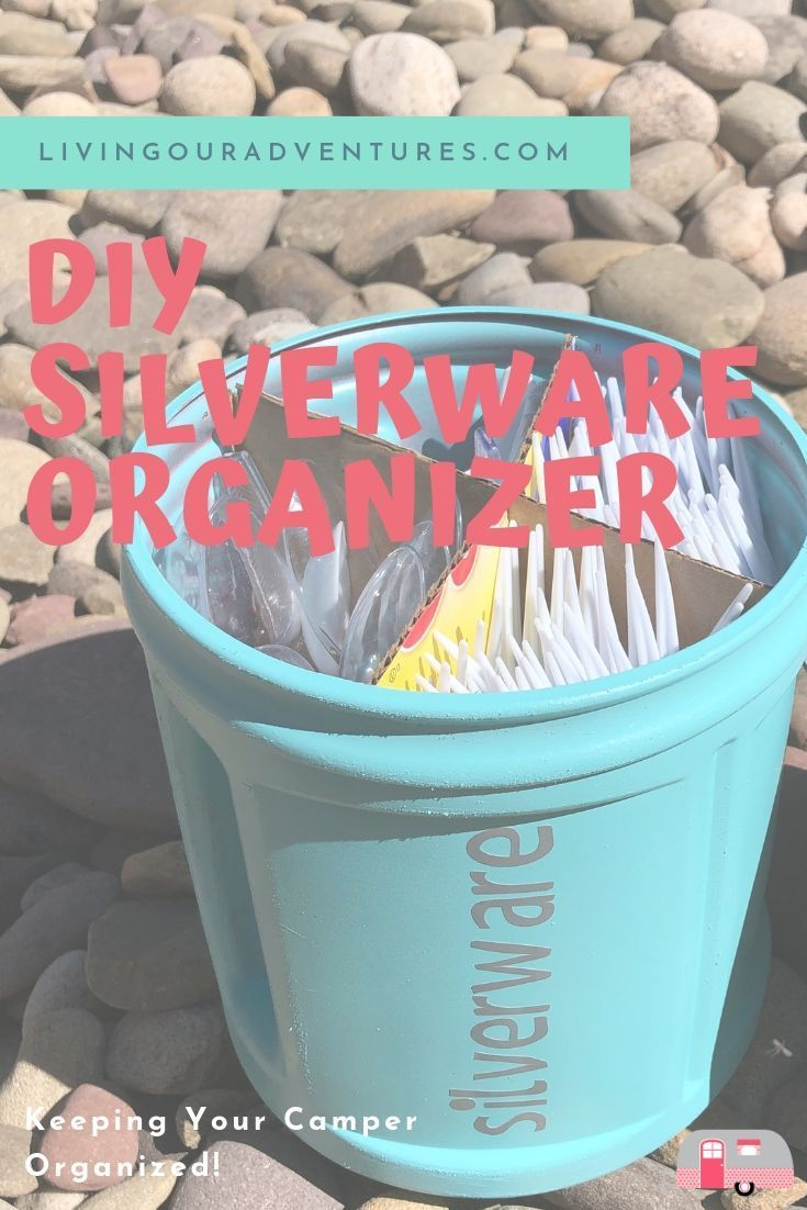 Photo of Keeping organized in a small camper is a must.  Keeping silverware organized and…