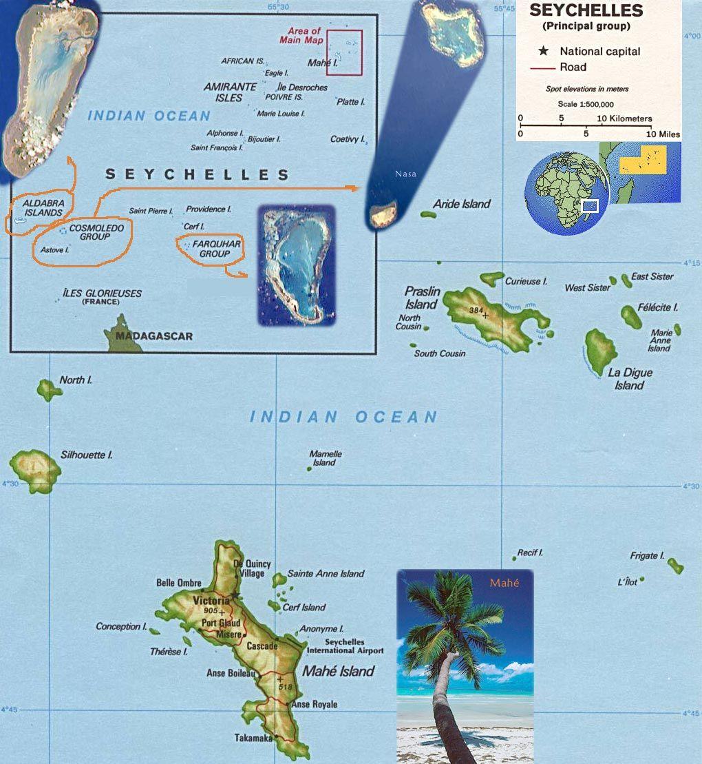 Ubicacion De Las Islas Salchelles Islas Viajes Y Paises