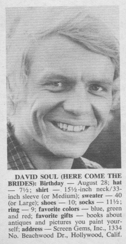 David Soul - 16 Magazine - October, 1970