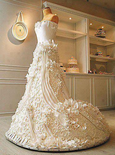 torta vestido novia   tortas   pinterest   dress cake, wedding cakes