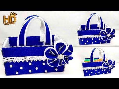 Ide kreatif - Kotak tisu model tas cantik dari kardus ...