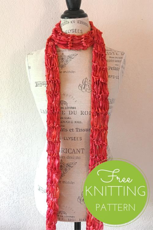 Constellation Skinny Scarf Free Knitting Pattern