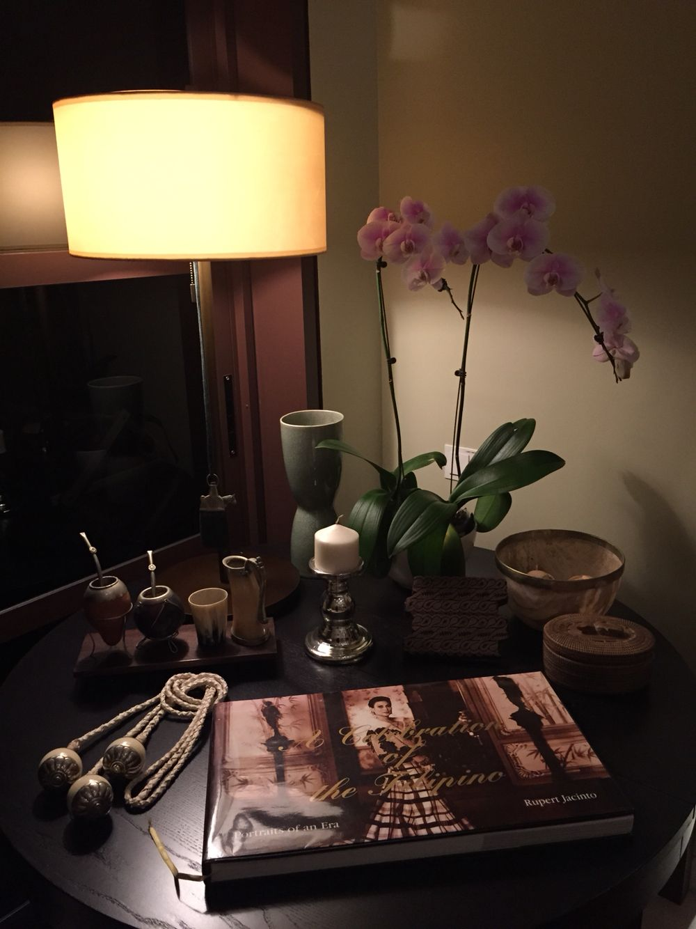 Argentinean Artifacts And A Filipino Book Our Bi Cultural Corner Singapore Desk Lamp Lamp Decor