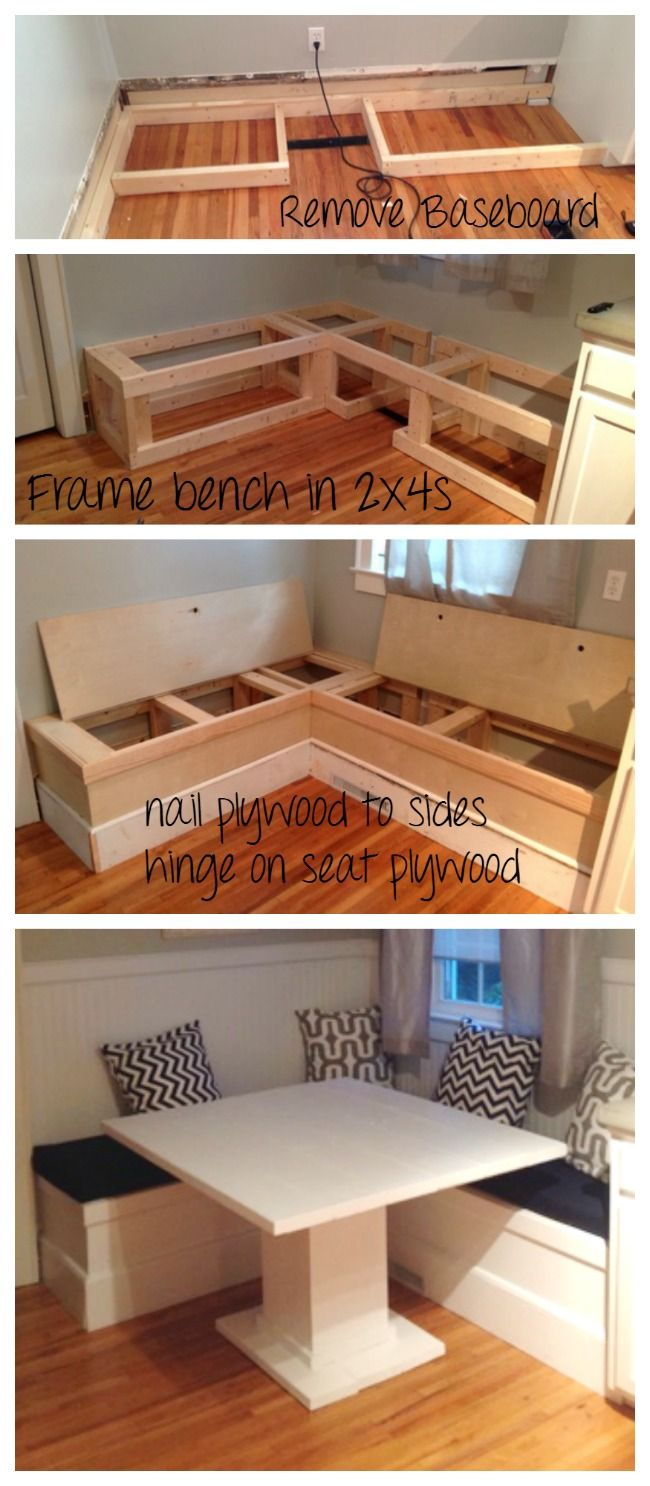 Ana White | DIY Breakfast Nook with Storage - DIY Projects | Kitchen ...