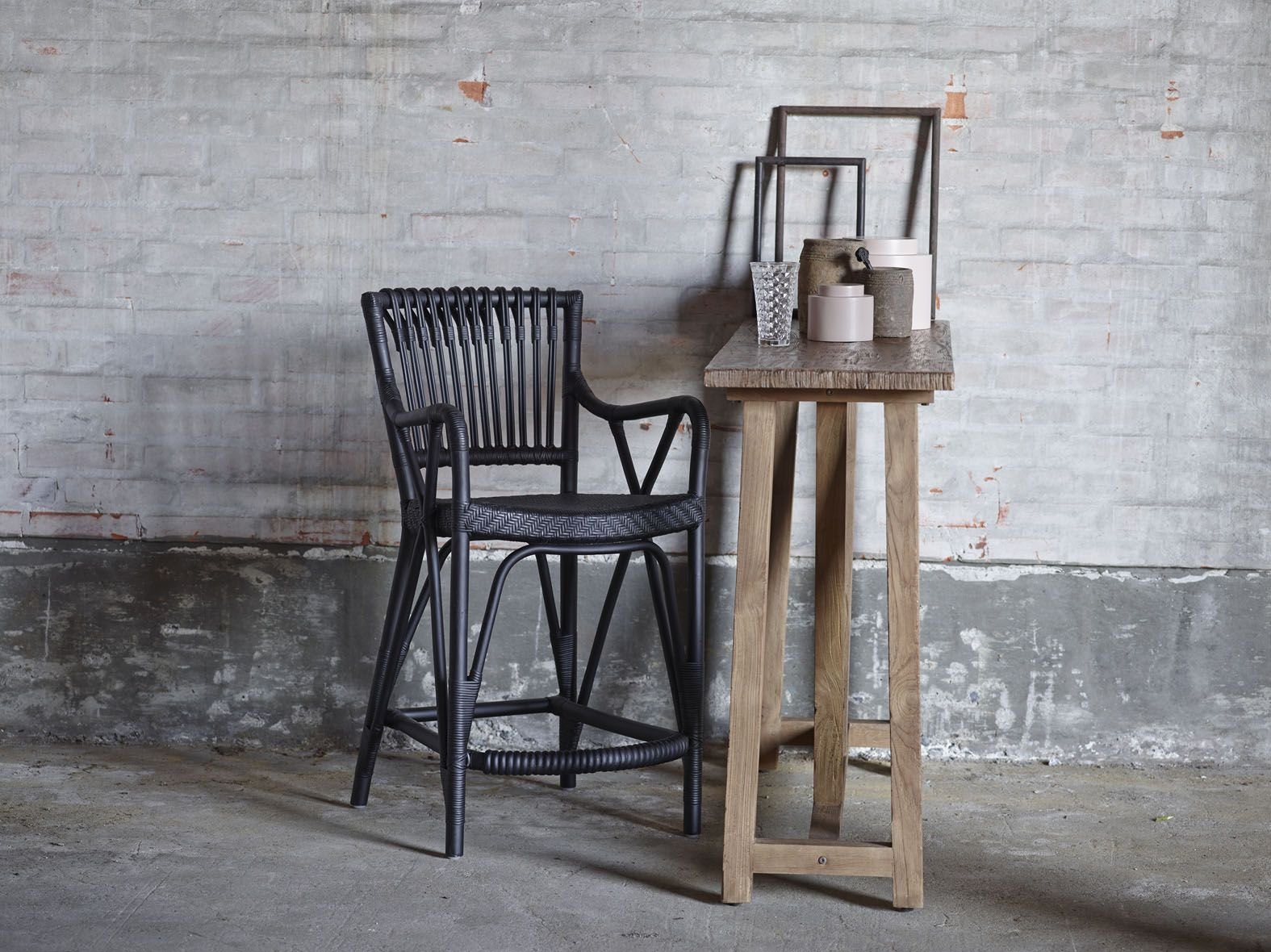 blues barstool and lucas console from collection originals