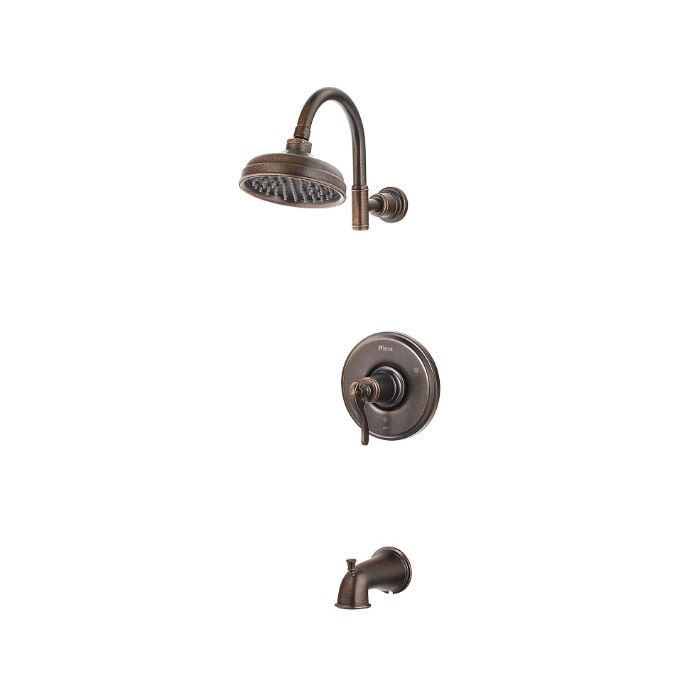 Pfister Ashfield 1-Handle Rustic Bronze Tub/ Shower Faucet (Rustic ...