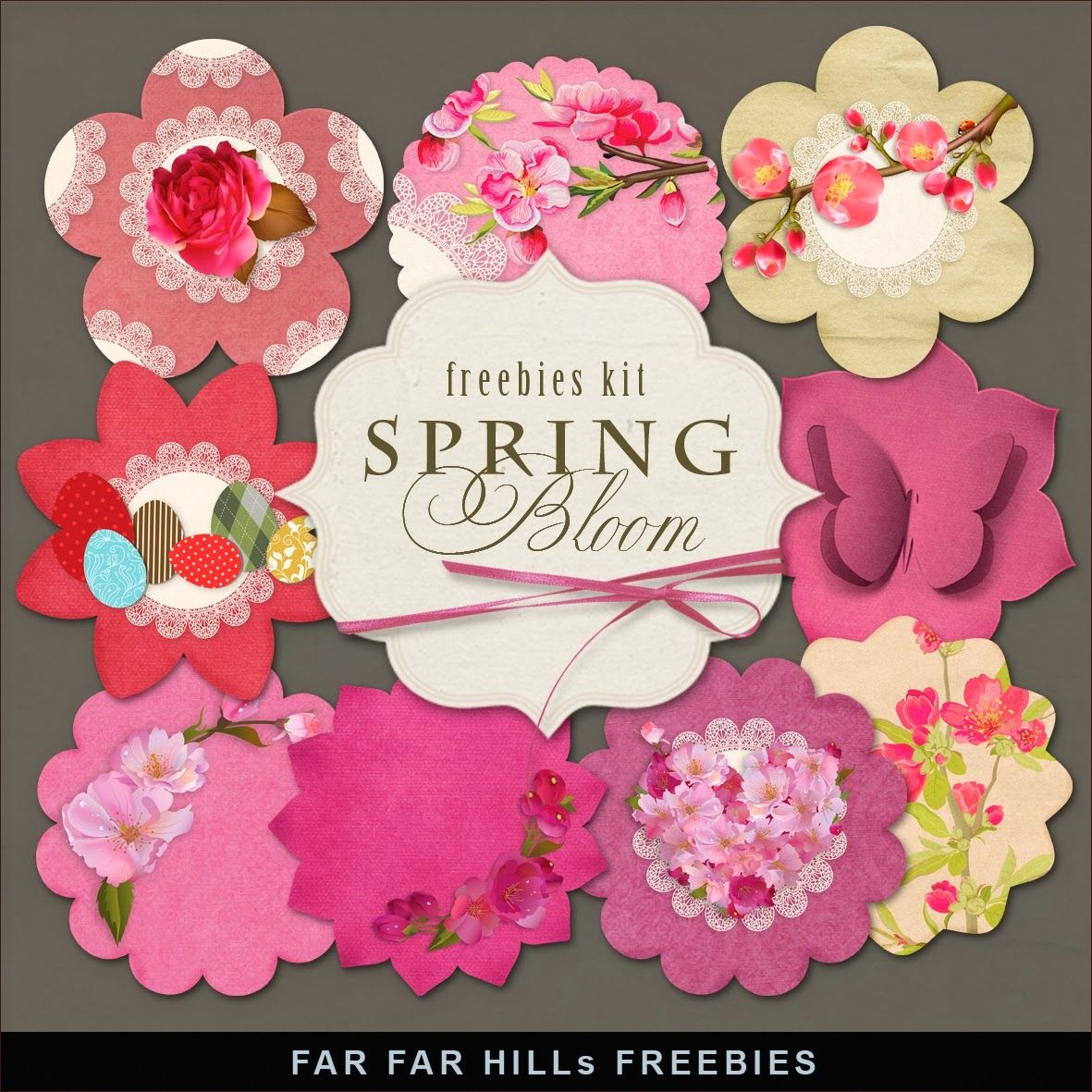 New Freebies Kit of Labels - Spring Bloom