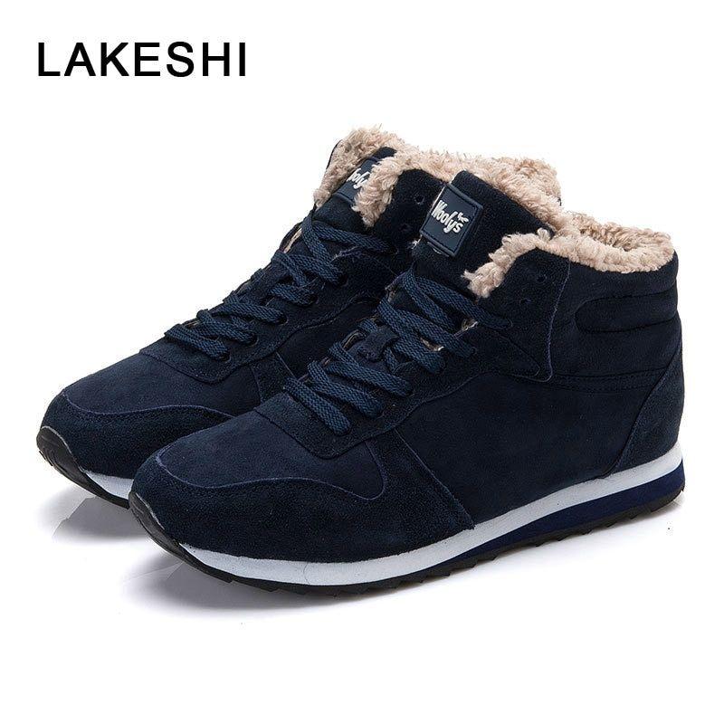 LAKESHI Women Vulcanize Shoes Women Casual Shoes Black Women Sneakers 2018  Fashion Warm Winter Shoes Suede 5877a362fde