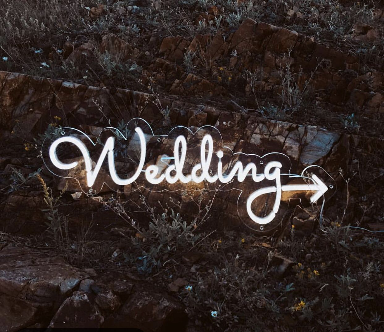 WEDDING direction. ⚡️Neon Sign ⚡️ in 2020 Neon signs