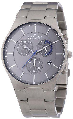 Skagen Herren-Armbanduhr XL Chronograph Quarz Titan SKW6077