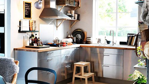 Keuken Ikea Inrichting : Rvs ikea keuken interieur inrichting kitchen