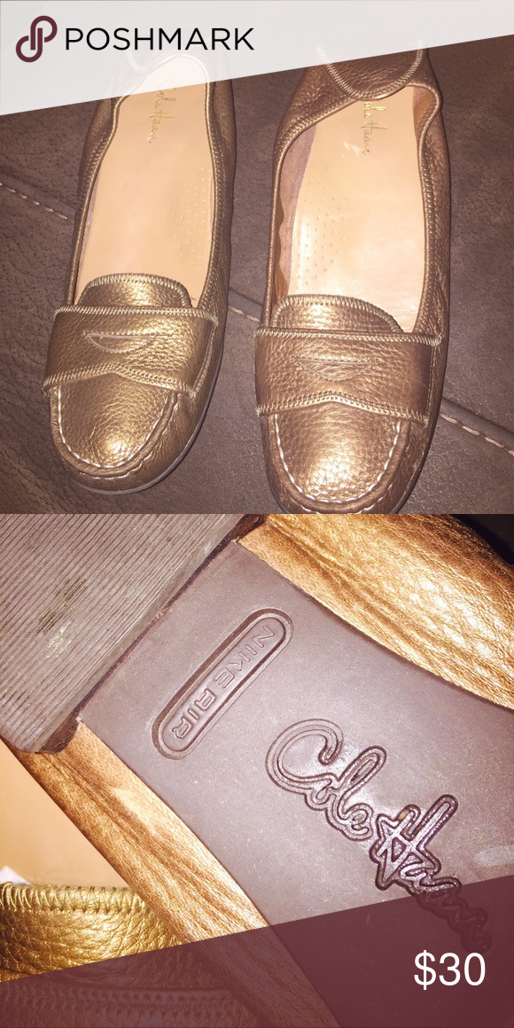 Cole haan shoes 8.5-9 m Beautiful Cole haan flat gold shoes 8.5-9 in great condition cole haan  Shoes Flats & Loafers