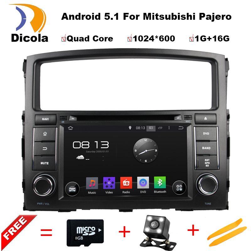 Quad Core 1024 600 Android 5 1 1 Car Dvd For Mitsubishi Pajero V97