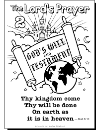 our father prayer coloring pages | the lord's prayer coloring pages printable - Google Search ...