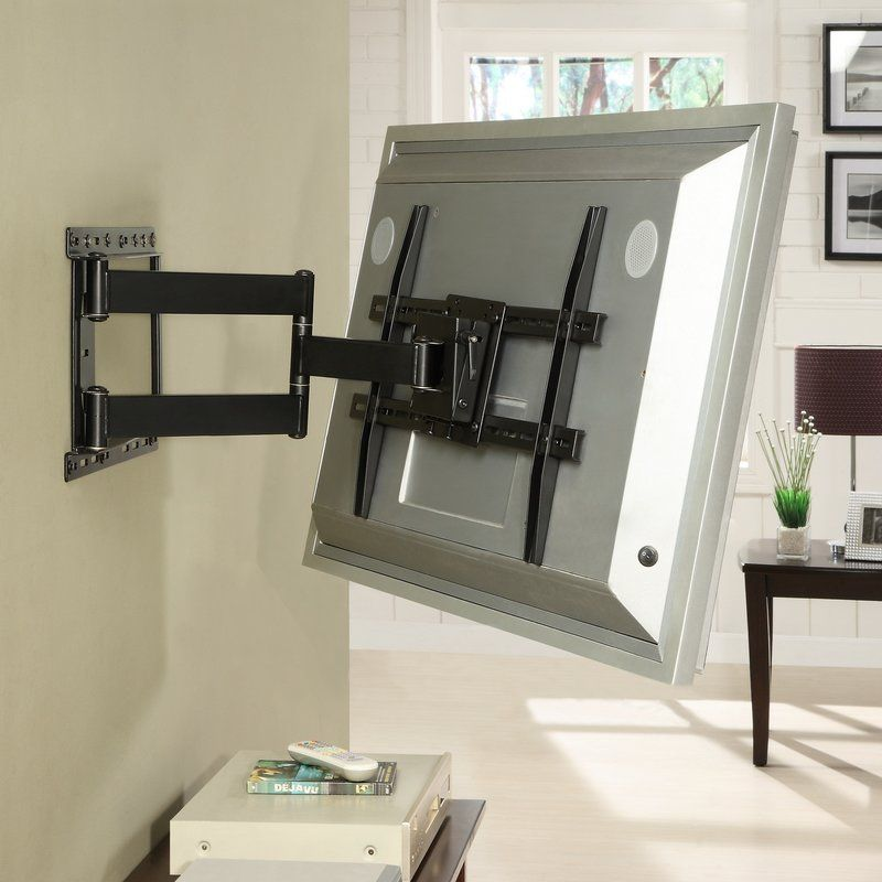 Large Full Motion Articulating Armswiveltilt Wall Mount For 19 80 Flat Panel Screens In Black Wall Mounted Tv Swivel Tv Wall Mount Tv Wall